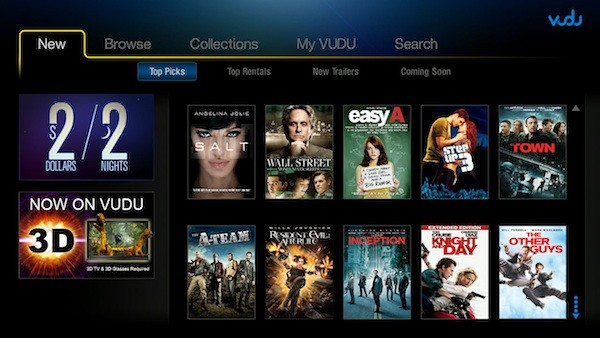 VUDU with 3D screenshot