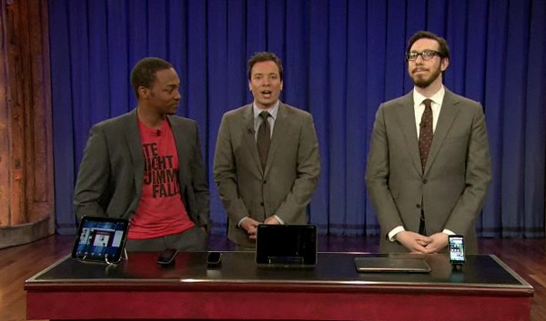 Josh stops by Jimmy Fallon with the Xoom, Pre 3, Veer, and TouchPad