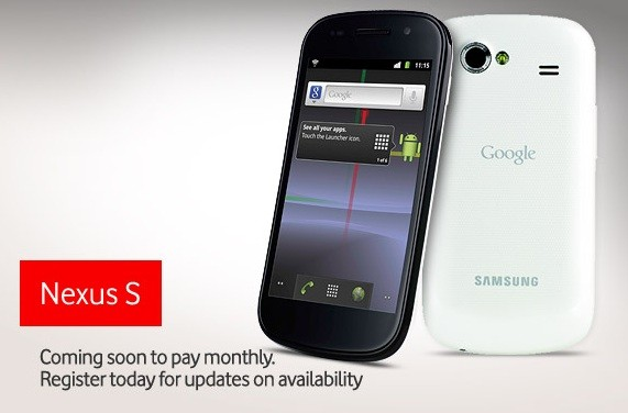 White Nexus S confirmed to be 'coming soon' to Vodafone