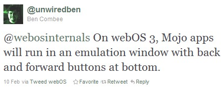 HP confirms legacy webOS apps will be runnable on webOS 3.0, TouchPad keeps its Mojo