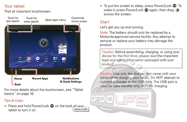 Motorola Xoom manual now available for download, ready to expose the ins and outs of Honeycomb
