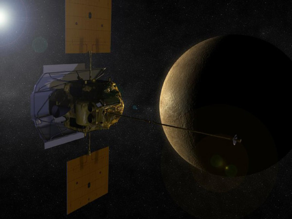 NASA's MESSENGER begins orbit around Mercury, will start beaming back science early next month