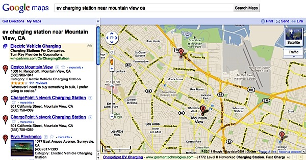Google Adds EV Charging Stations to Google Maps