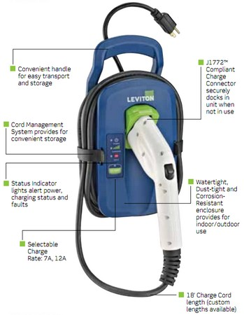 Leviton announces Evr-Green 120 portable EV charger, pledges no unsightly shedding of leaves