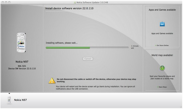 Nokia Software Updater for Mac available in beta, lets you update your N79 under OS X