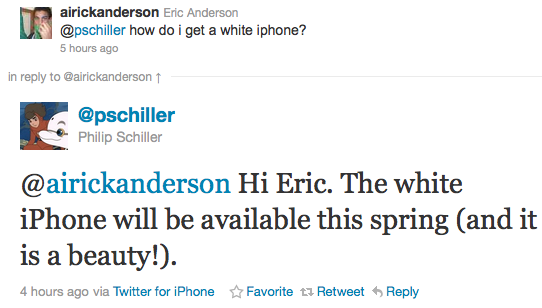 White iPhone to be Available This Spring