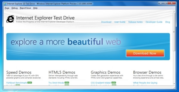 Internet Explorer 10 launched for Windows 7, net gets faster, try it out now