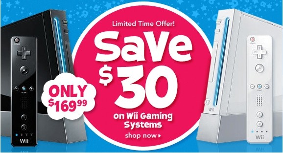 Nintendo Wii on Sale at Toys R Us, Best Buy for $169.99