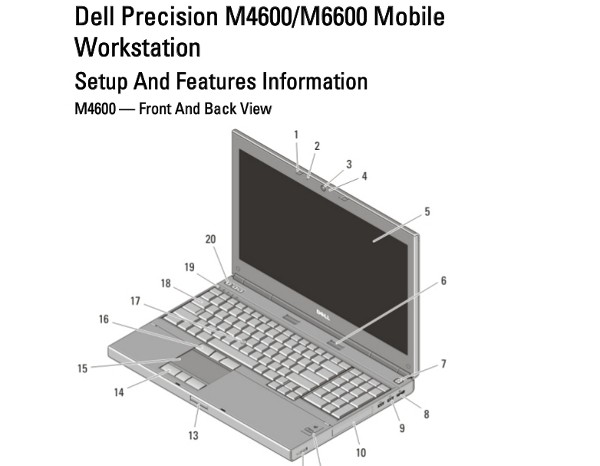 Dell Precision M4600/M6600 Manual