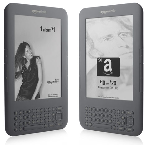 Amazon Kindle 3G Gets AT&T-sponsored Ad-supported Option