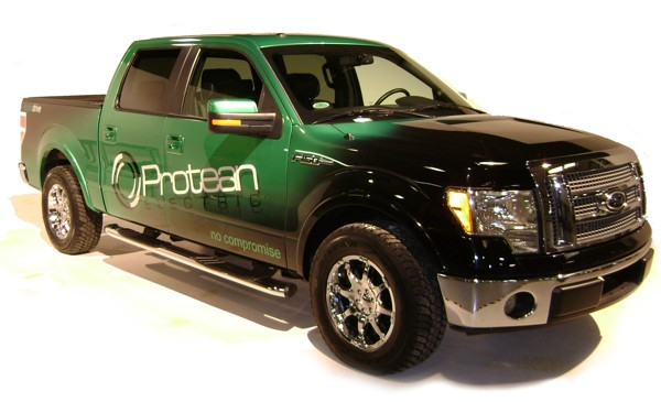 Protean ford f 150 all electric pickup autos for Protean electric motor for sale