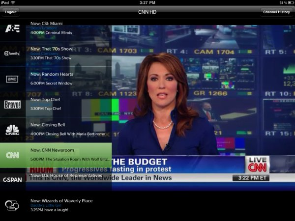 twcabletvipadscreenshot 1302208886 Time Warner Cable takes Viacom to court over its TWCable TV iPad app; Viacom responds