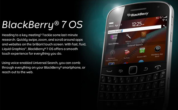 Blackberry OS 7 support from Call Control