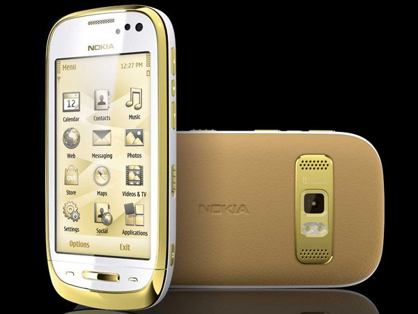 11x0525100334  This Gold Plated Cell Phone Isnt Likely to Right Nokias Ship