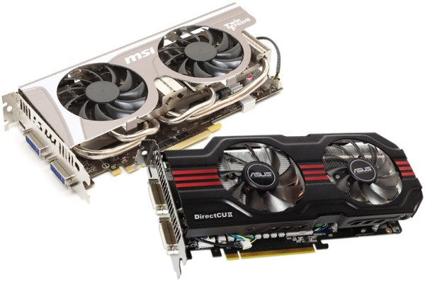 MSI and ASUS GTX 560 cards