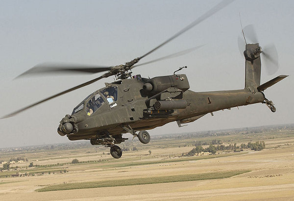 Apache New Infrared Targeting System Spots Foes When They Fire