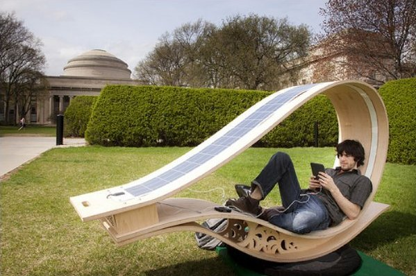 soft rockers combine solar panels and moving furniture to charge your