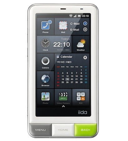 android smartphone on KDDI announces Android-based Infobar A01 smartphone with glanceable ...