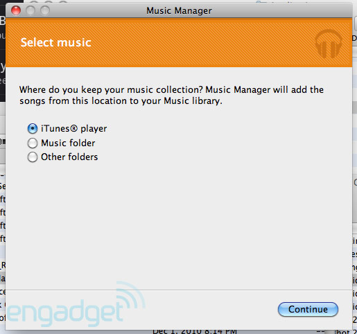 music manager Google Music Beta