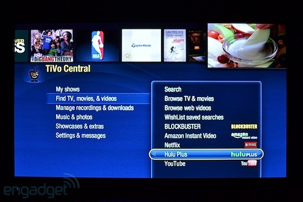 Hulu Plus on the TiVo Premiere