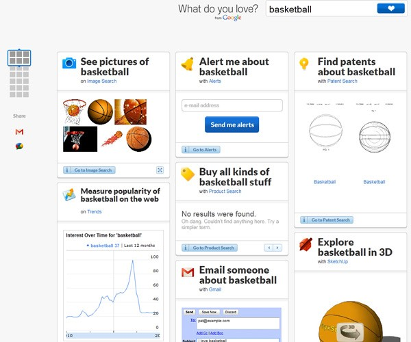 What do you love, asks Google with a new portal to its many web services