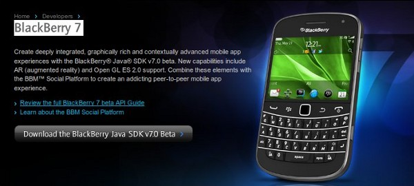 BlackBerry 7 SDK Beta