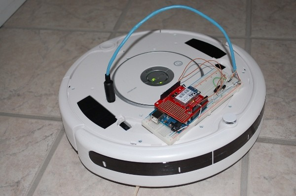Web-controlled tweeting Roomba