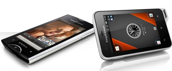 Sony Ericsson Xperia ray and Xperia active
