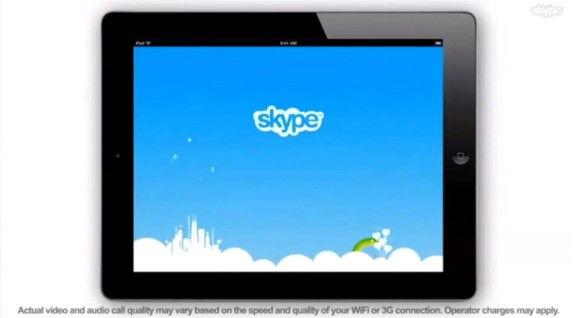 Skype lets iPad app out of the bag in leaked ad (video)