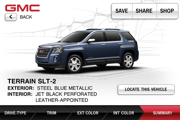 gmiosappdantetktkafterfold 1309482099 GMC showroom app tells you where to pick up your dream SUV, doesnt help with down payment