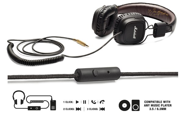 Marshall updates Major headphone with in-line mic for more talkin' between rockin'