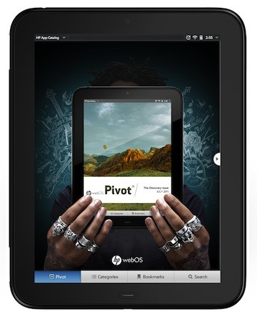 HP announces TouchPad Pivot, the curated, magazine-like way to find some apps