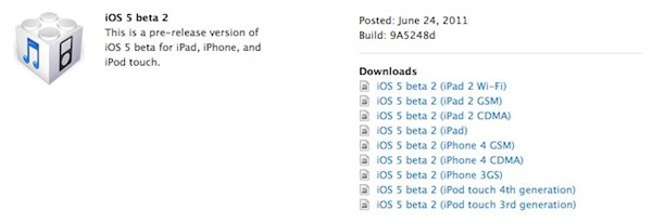 iOS 5 beta 2 now available for developers