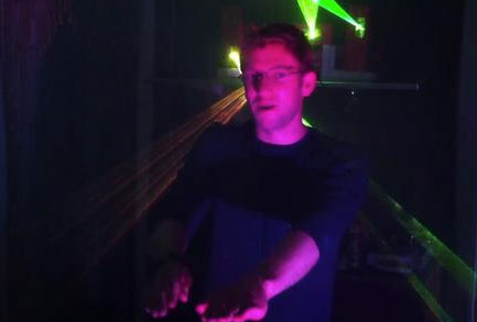 Kinect hack turns your living room into a crazy laser techno dance party