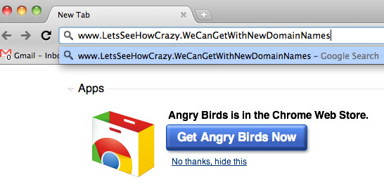Crazy with domain names