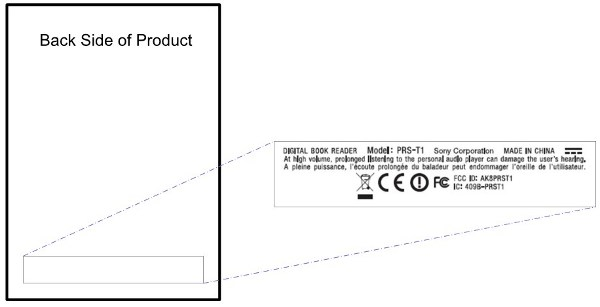Sony PRS-T1 Reader at FCC