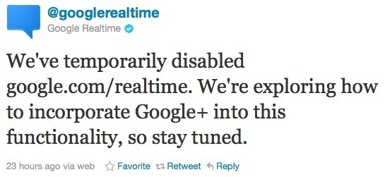 Google temporarily suspends Realtime search, thanks to expired Twitter deal
