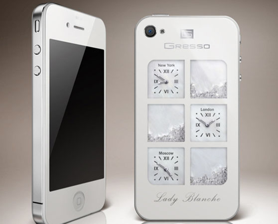 Tech News : iPhone 4 $30k Diamond Version By Gresso,iphone 4 white,diamond phones,gresso phones,iphone,ipad,diamond verson,$30000 phone,2011,2012