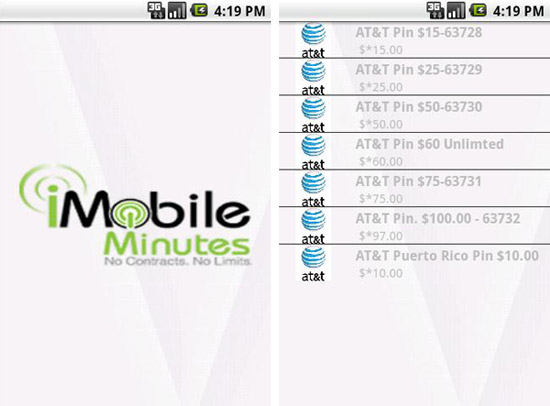 iMobileMinutes on Android