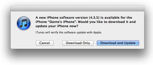ios435dantetktk 1311617345 Apple releases iOS 4.3.5