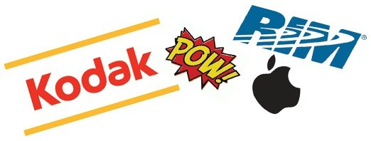 Kodak, Apple and RIM go pow