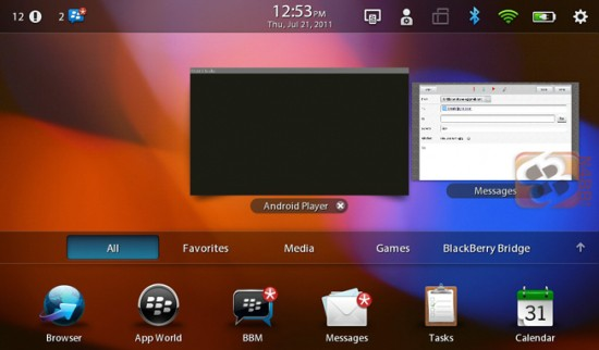 Android App Player leaks out on to BlackBerry PlayBook
