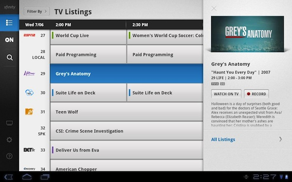 Comcast Xfinity TV app updated for Honeycomb Android ...