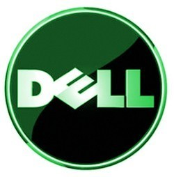 Dell logo in green