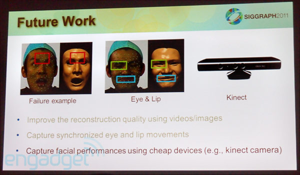 Researchers demo 3D face scanning breakthroughs at SIGGRAPH, Kinect crowd squarely targeted
