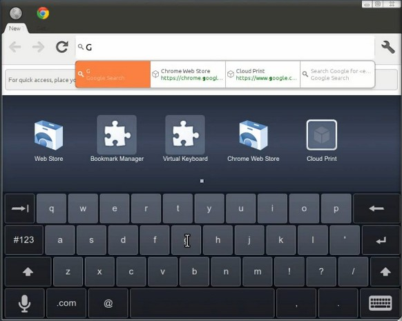 Chromium Tablet UI