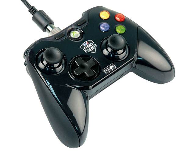 Mad Catz Major League Gaming controllers offer swappable thumbstick layouts, fancy arcade buttons