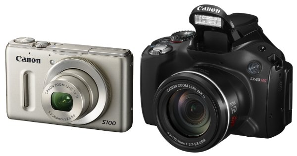 Canon PowerShot S100 and SX 40 HS