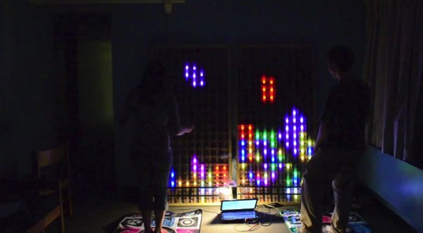 6-foot Tetris controlled by DDR mats
