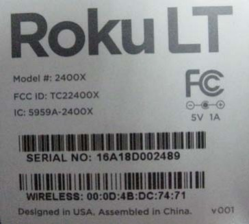 Roku LT at FCC